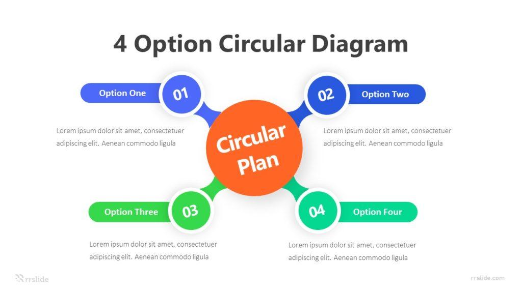 4 Option Circular Diagram Infographic Template