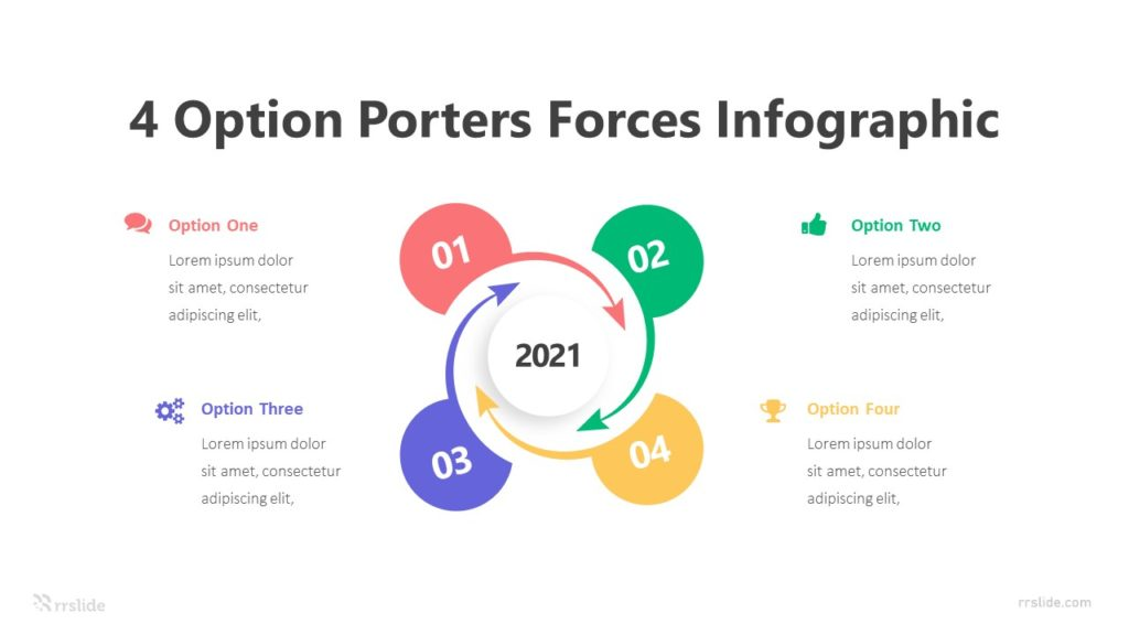 4 Option Porters Forces Infographic Infographic Template