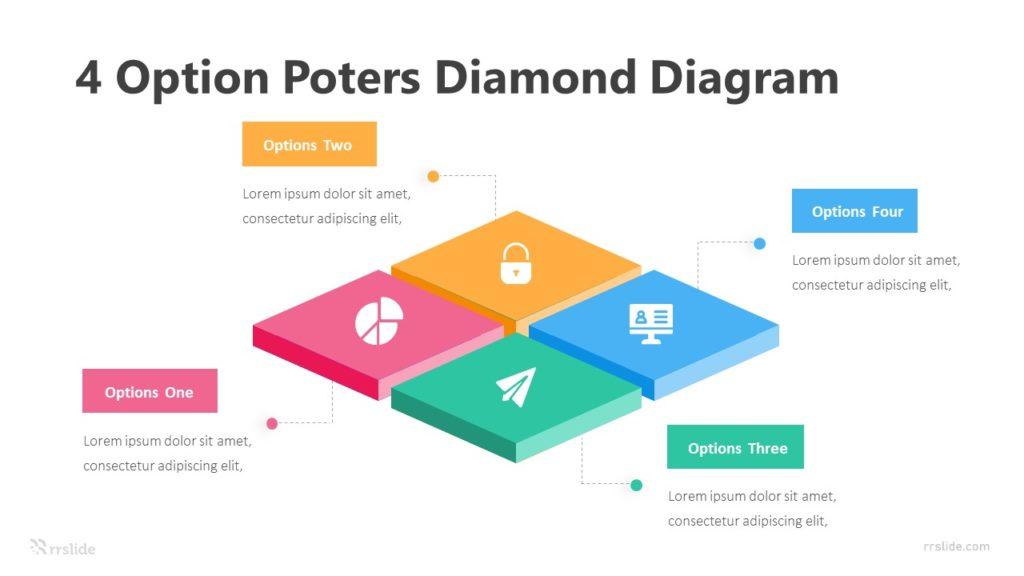 4 Option Poters Diamond Diagram Infographic Template