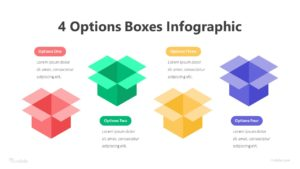 4 Options Boxes Infographic Template