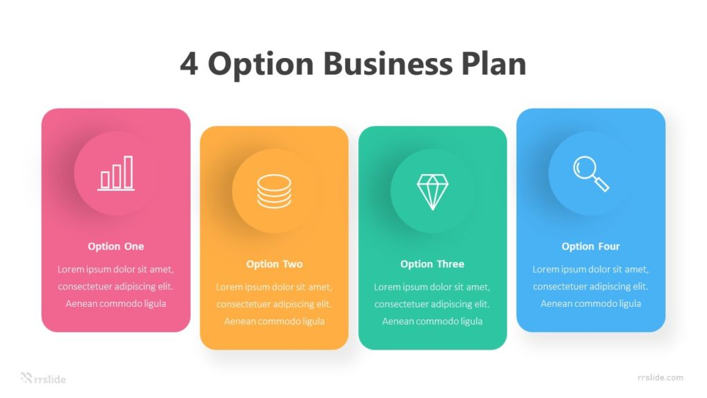 4 Options Business Plan Infographic Template