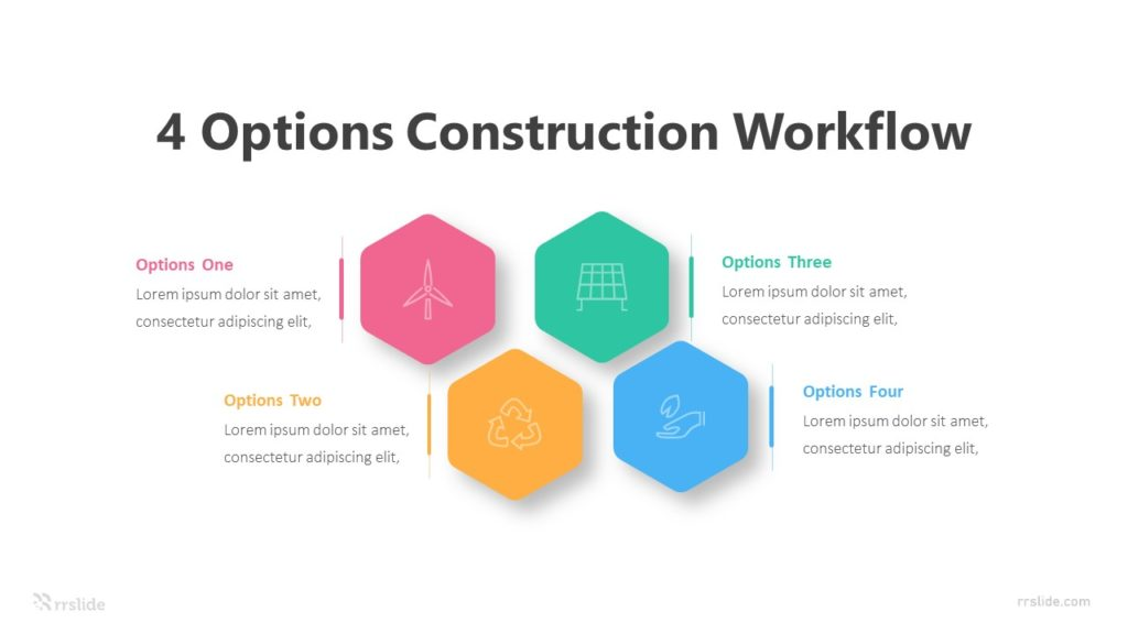 4 Options Construction Workflow Infographic Template