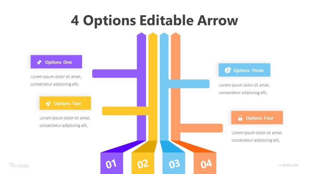 4 Options Editable Arrow Infographic Template