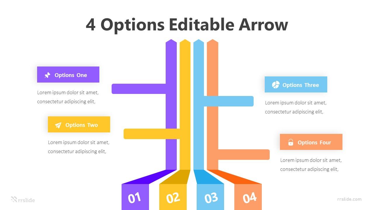 4 Options Editable Arrow Infograpic Template