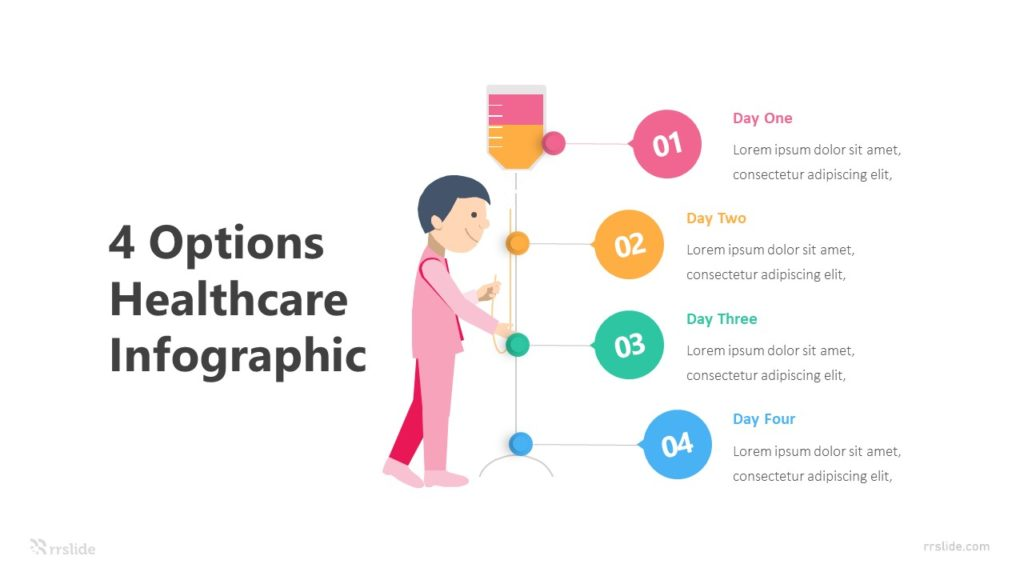 4 Options Healthcare Infographic Template