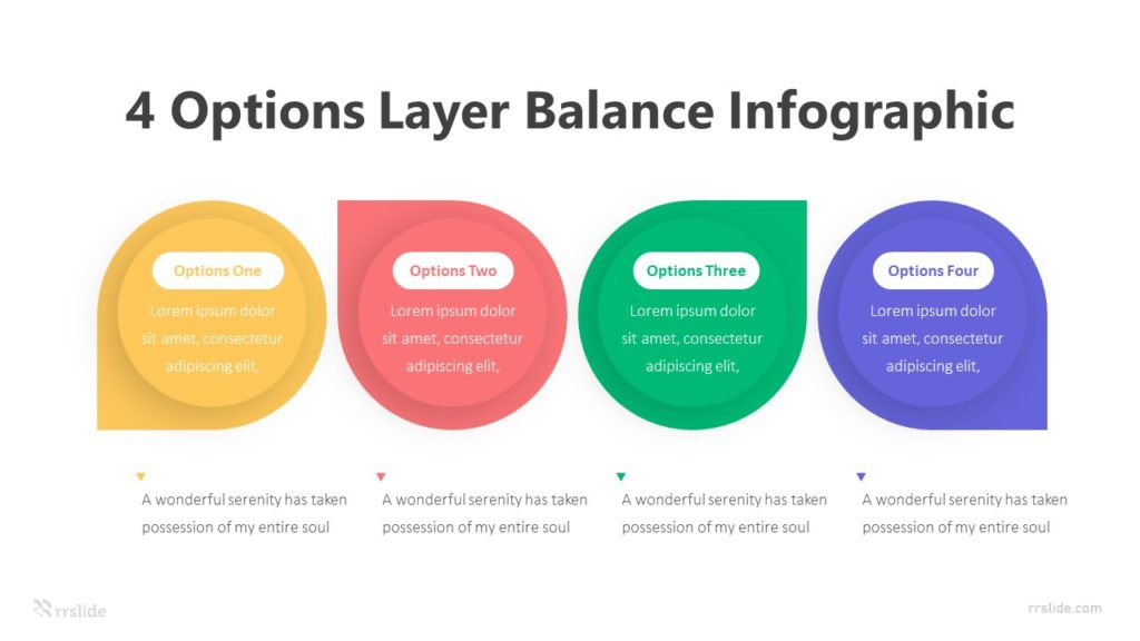 4 Options Layer Balance Infographic Template