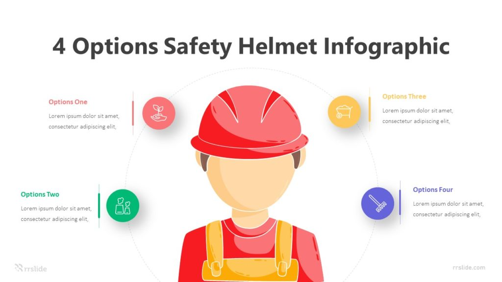 4 Options Safety Helmet Infographic Template