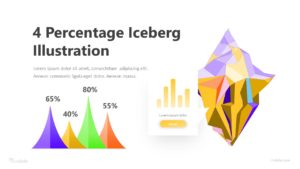 4 Percentage Iceberg Illustration Infographic Template