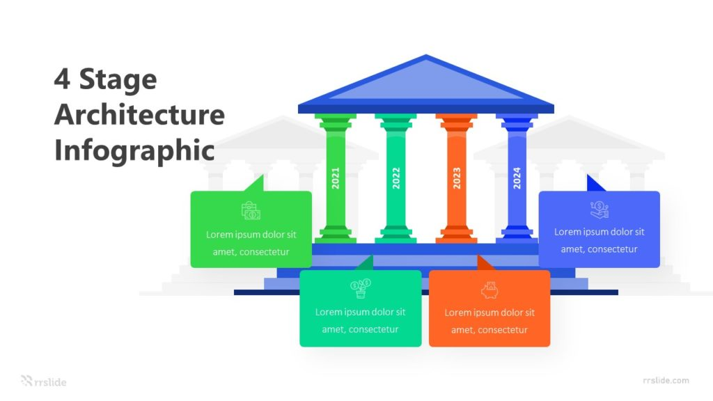 4 Stage Architecture Infographic Template