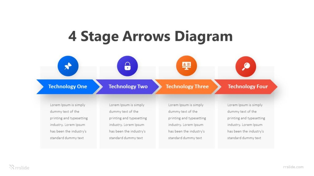 4 Stage Arrows Diagram Infographic Template