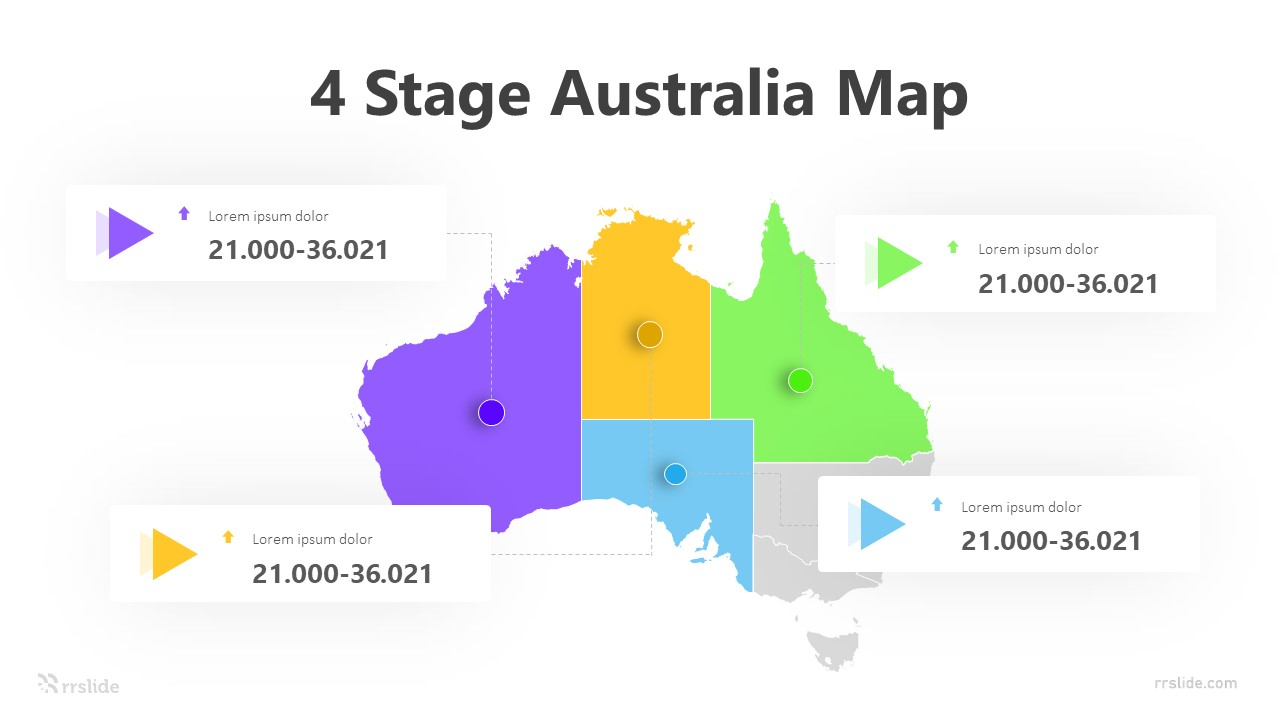 4 Stage Australia Map Infographic Template