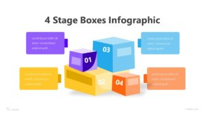 4 Stage Boxes Infographic Template