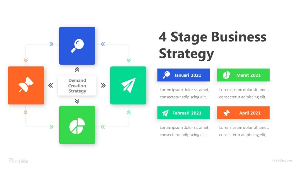 4 Stage Business Strategy Infographic Template