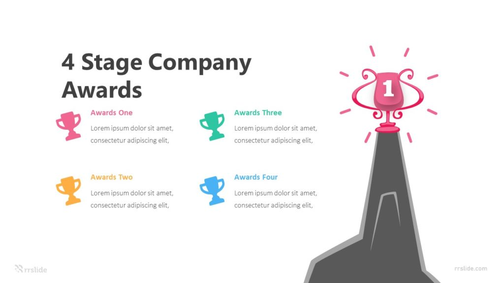 4 Stage Company Awards Infographic Template