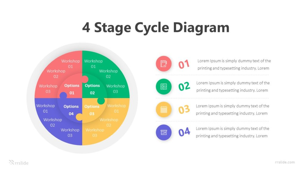 4 Stage Cycle Diagram Infographic Template