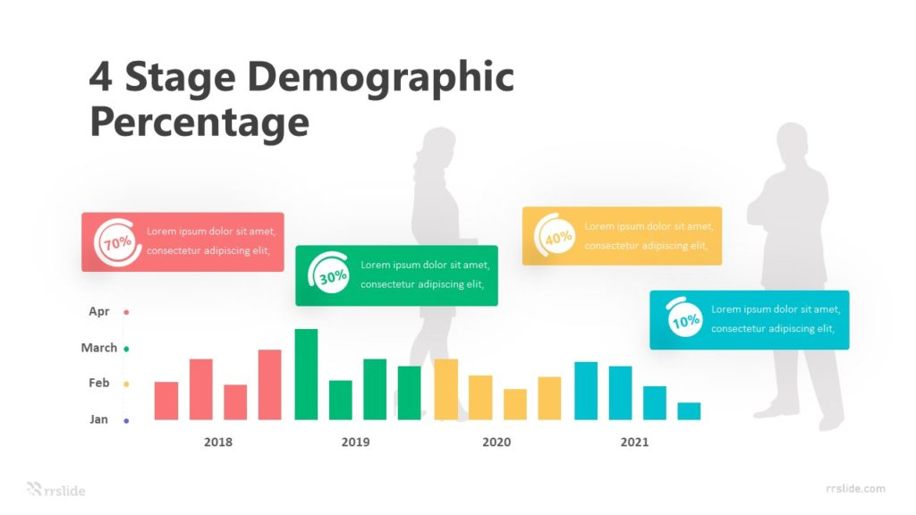 4 Stage Demographic Percentage Infographic Template