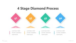 4 Stage Diamond Process Infographic Template