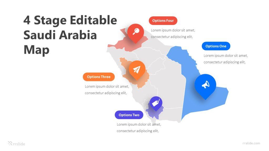 4 Stage Editable Saudi Arabia Map Infographic Template