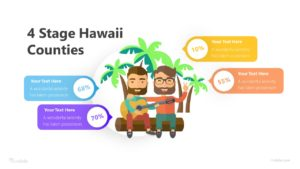 4 Stage Hawaii Counties Infographic Template
