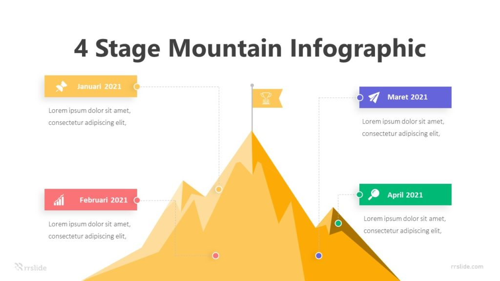 4 Stage Mountain Infographic Template
