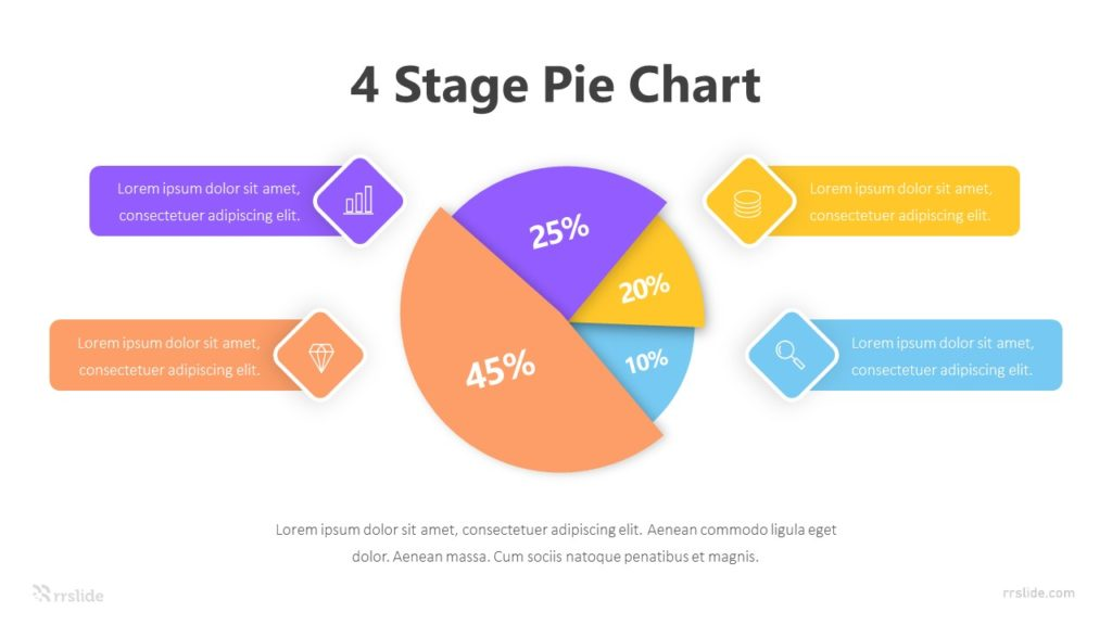 4 Stage Pie Chart Infographic Template