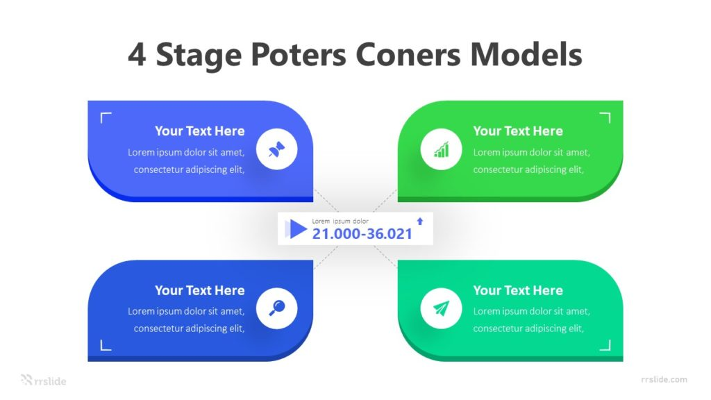 4 Stage Poters Coners Models Infographic Template