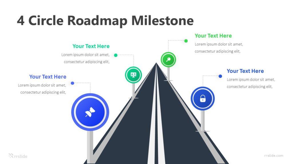 4 Stage RoadMap Milestone Infographic Template