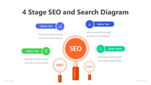 4 Stage SEO And Search Diagram Infographic Template