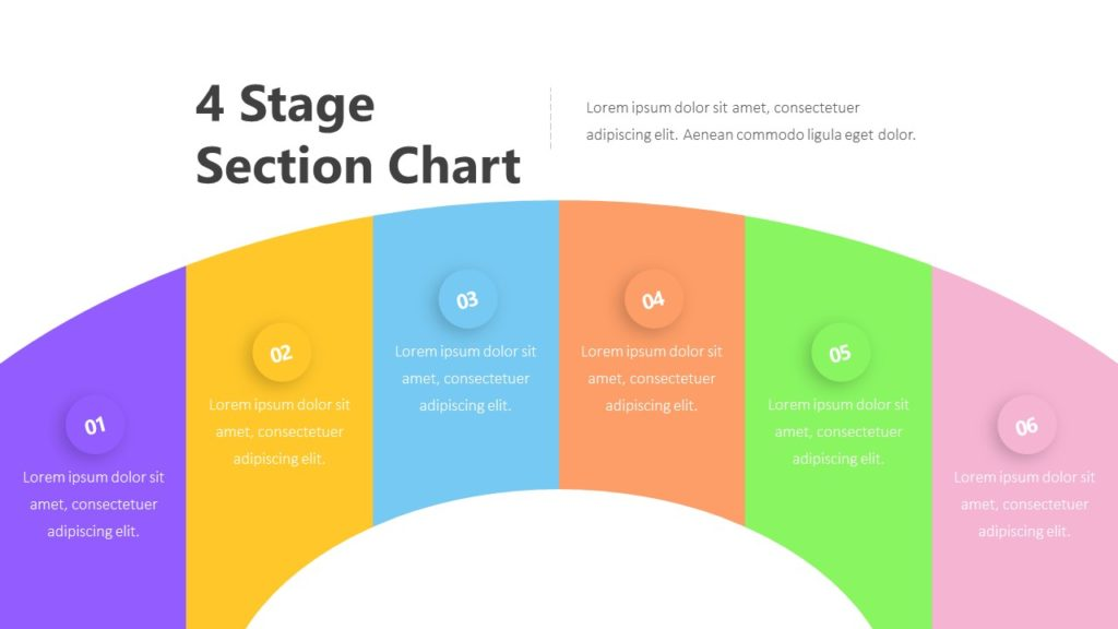 4 Stage Section Chart Infographic Template