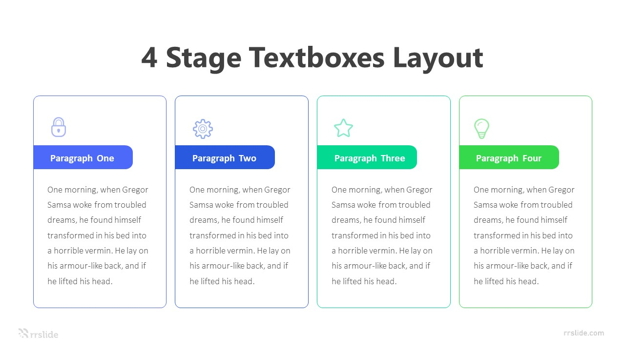 4 Stage Text Boxes Layout Infographic Template