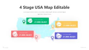 4 Stage USA Map Editable Infographic Template