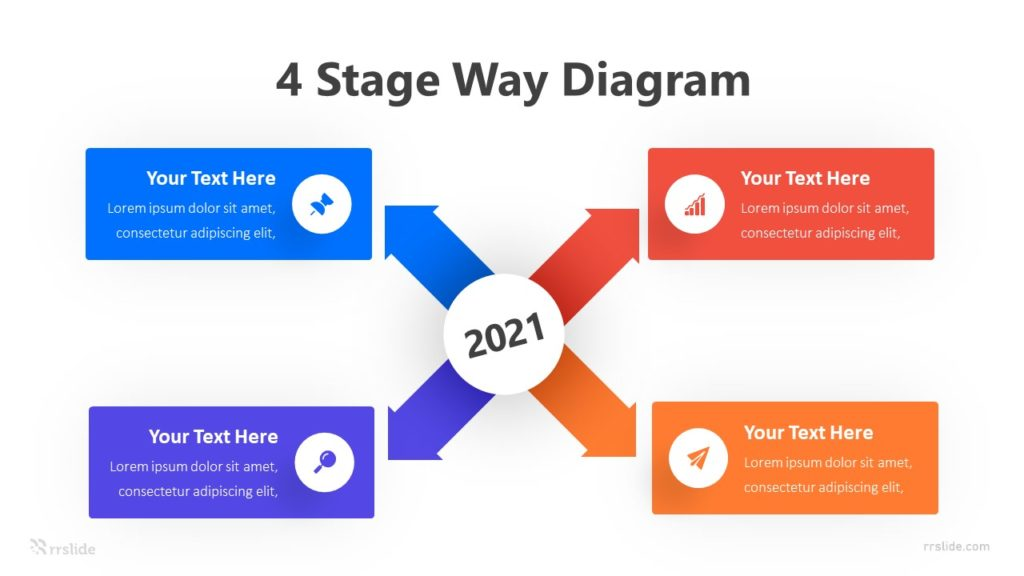 4 Stage Way Diagram Infographic Template