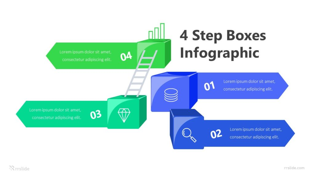 4 Step Boxes Infographic Template