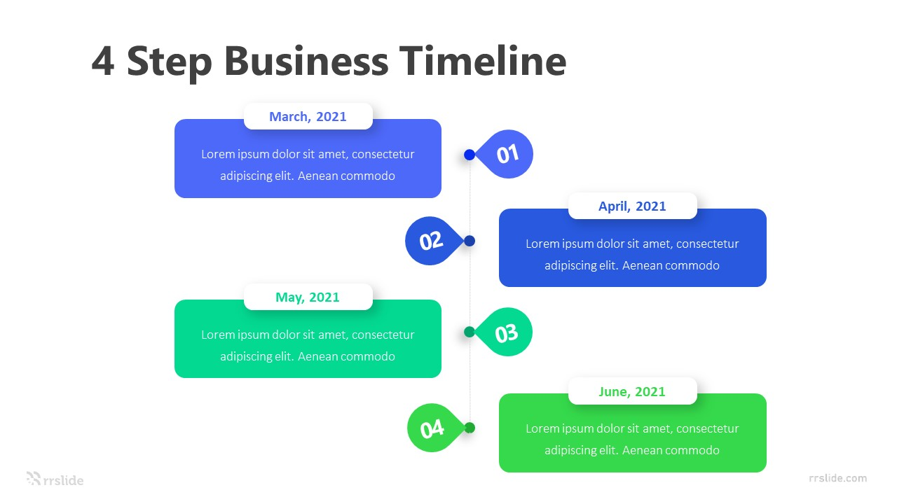 4 Step Business Timeline Infographic Template