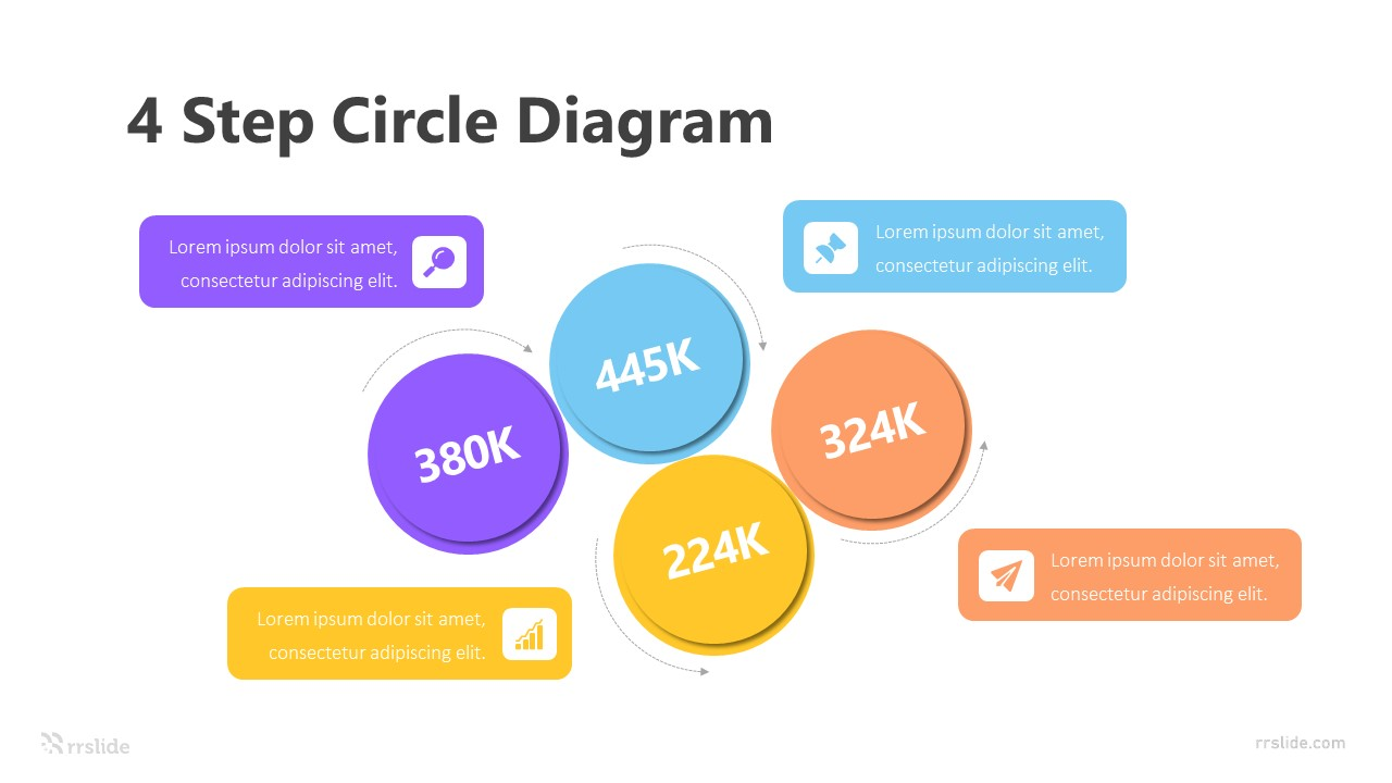 4 Step Circle Diagram Infographic Template