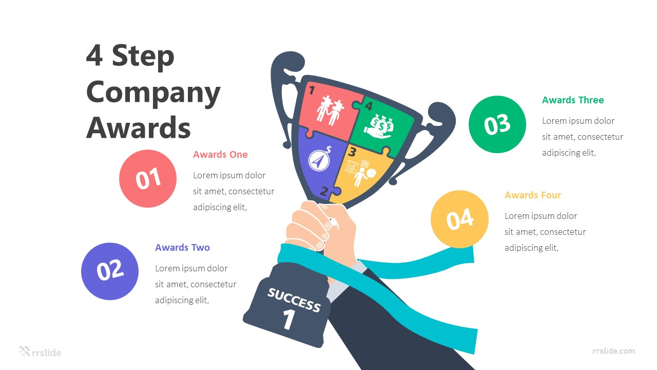4 Step Company Awards Infographic Template