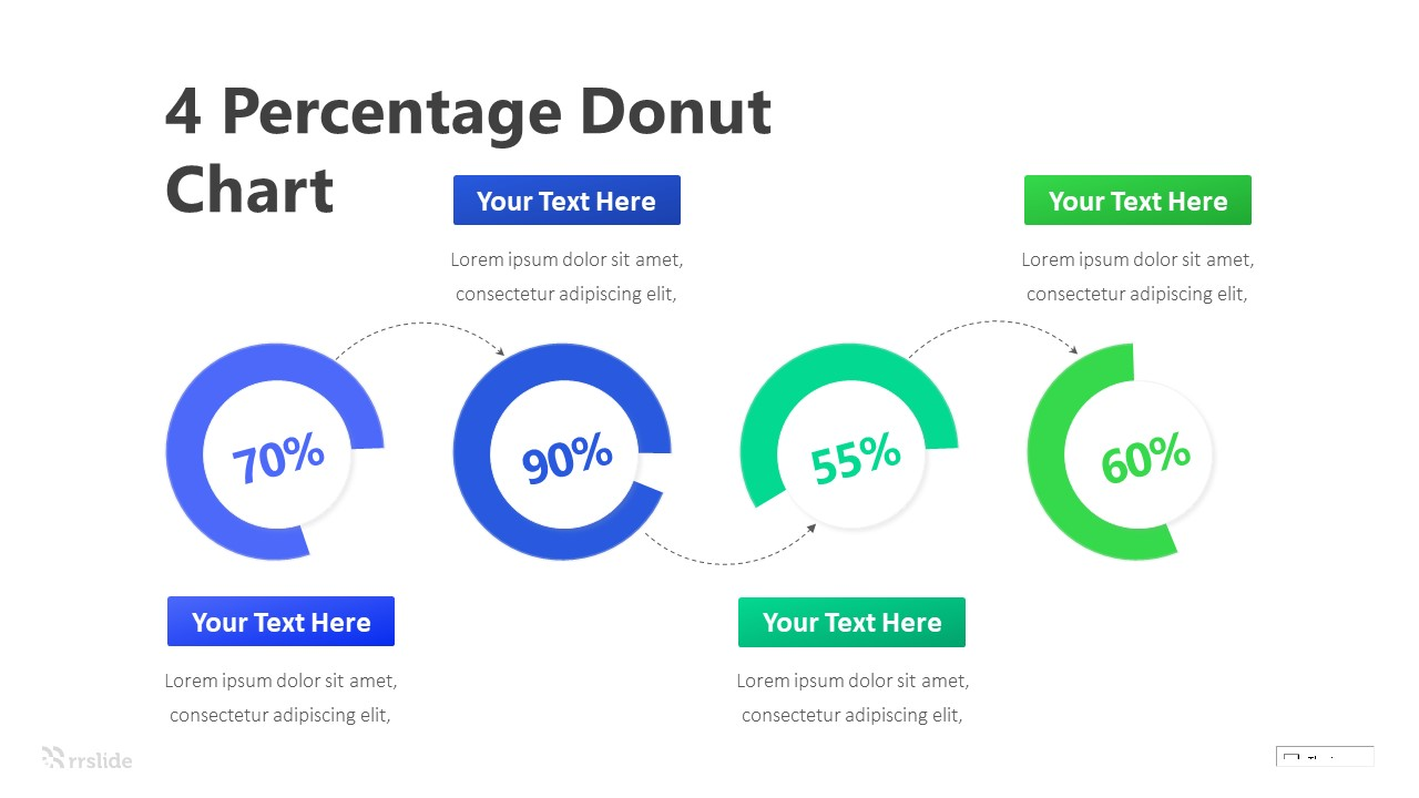 4 Step Donut Chart Infographic Template