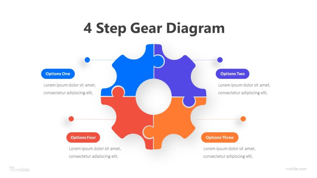 4 Step Gear Diagram Infographic Template