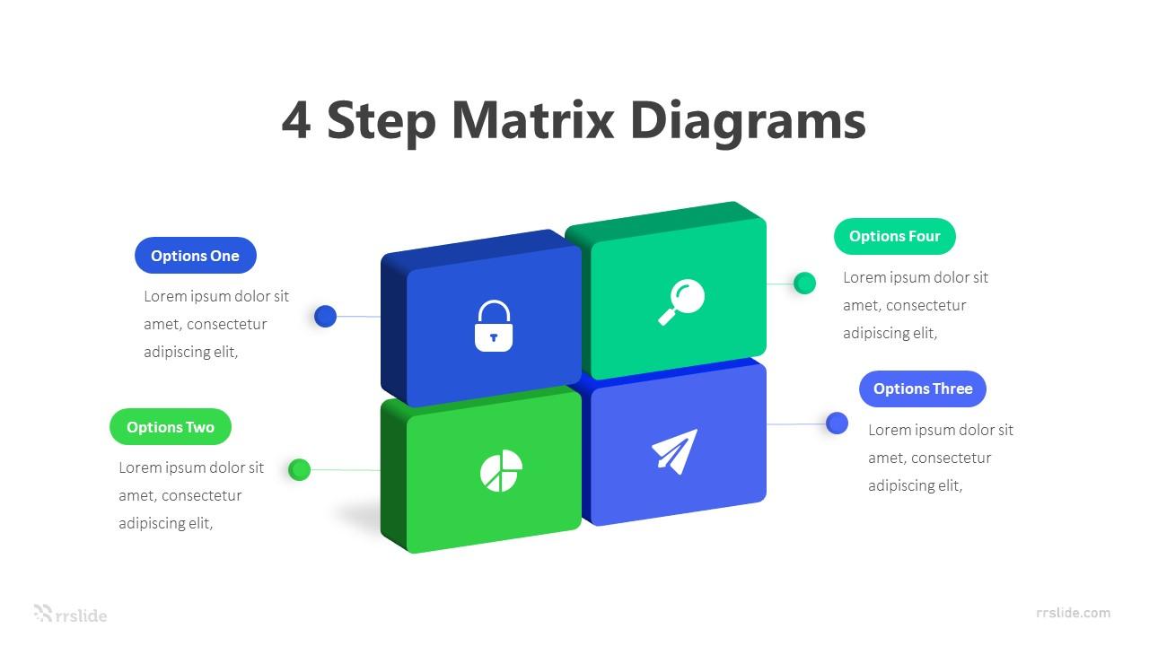 4 Step Matrix Diagrams Infographic Template