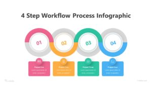4 Step Workflow Process Infographic Template