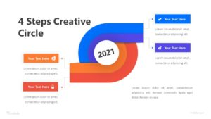 4 Steps Creative Circle Infographic Template