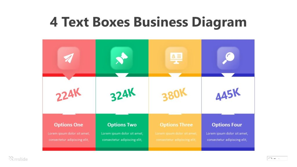 4 Text Boxes Business Diagram Infographic Template