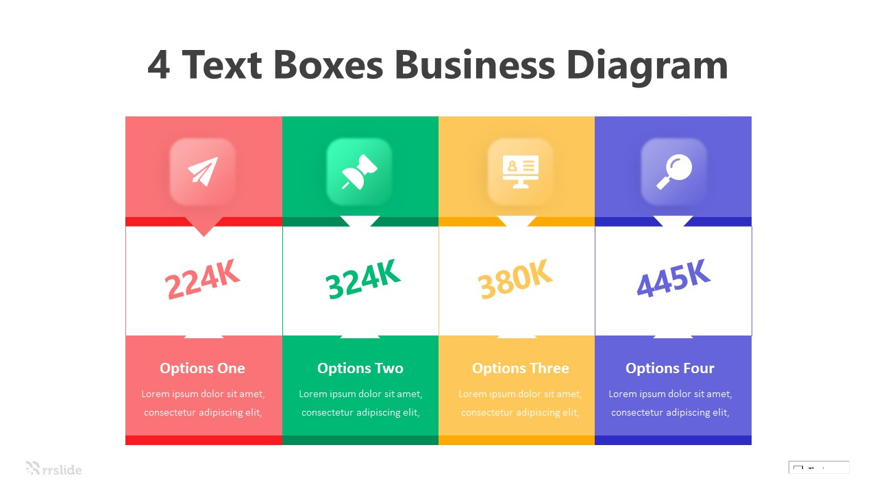 4 Text Boxes Business Diagram Infograpic Template