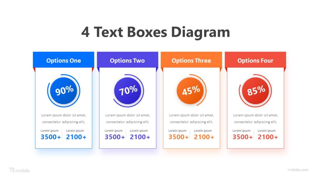 4 Text Boxes Diagram Infographic Template
