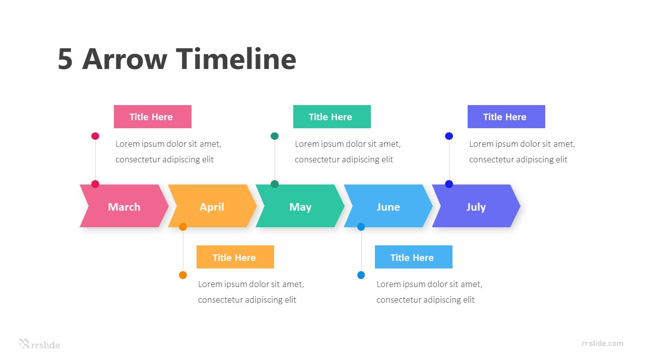 5 Arrows Timeline Infographic Template