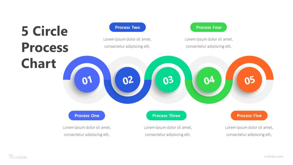 5 Circle Process Chart Infographic Template
