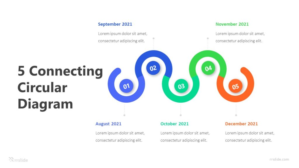 5 Connecting Circular Diagram Infographic Template
