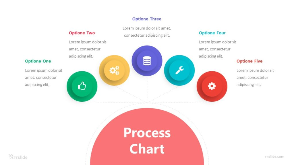 5 Optione Process Chart Infographic Template