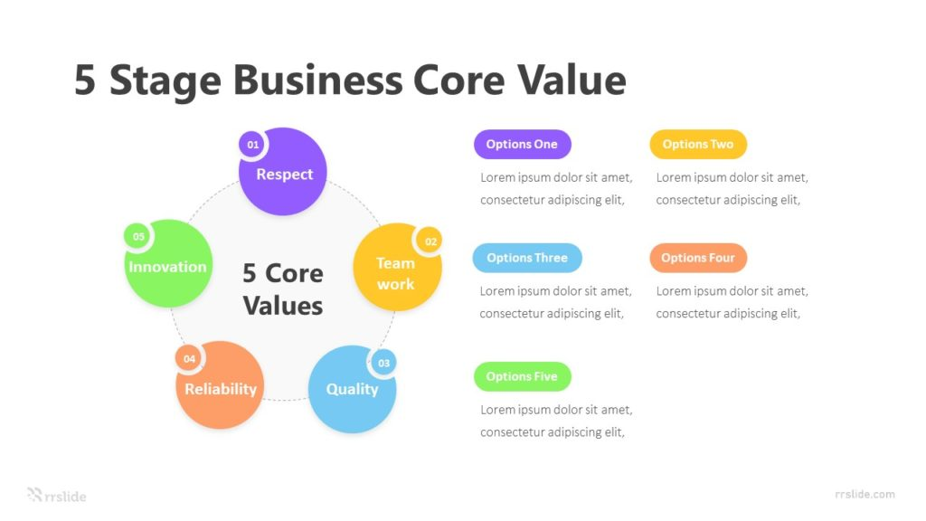 5 Stage Business Core Value Infographic Template