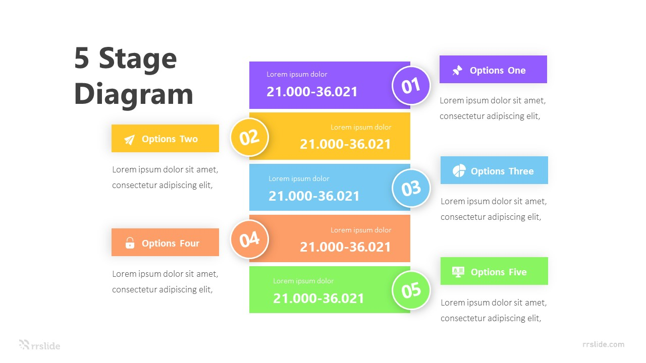 5 Stage Diagram Infograpic Template